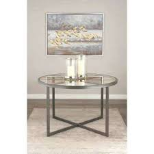 iron and glass dining table metal enzo circular n