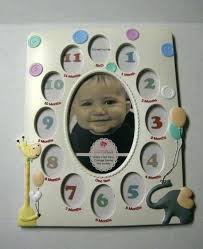 baby picture frame month collage by gifts fashion craft brand new photo banner 12 1 s image 0 12 month