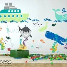 ocean wall stick ons tug boat adventures nursery wall decal nursery decals ocean wall decal nursery