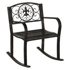 outdoor metal chair. New Patio Metal Rocking Chair Porch Seat Deck Outdoor Backyard Glider Rocker T