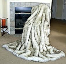 faux animal skin rugs new fur throw blanket white husky fake inspirational this is brilliant how