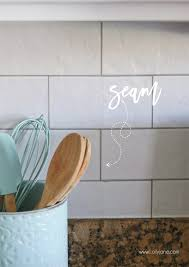 faux kitchen tile wallpaper. faux subway tile backsplashthis is wallpaper! looks like real tile, kitchen wallpaper
