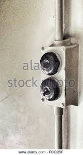 fuse box toggle close up stock photos fuse box toggle close up close up of old toggle switch buttons on wall stock image
