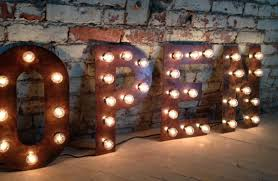 Vintage Marquee Letters 1