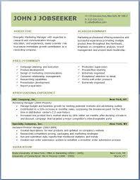 54 Fantastic Cv Sample Download Resume Template
