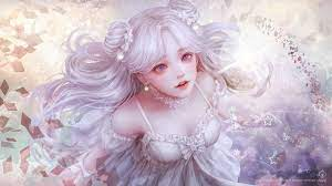 Anime Girl White Hair 4K Wallpaper #4.2377