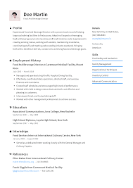 Food And Beverage Director Resume Templates 2019 Free