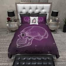 Skull Bedroom Purple Galaxy Dot Skull Duvet Bedding Sets Ink And Rags