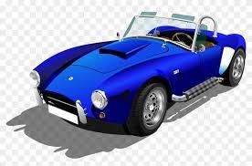 blue sports car clipart.  Blue Shelby Cobra Vector Png Clipart  Clip Art Sports Car To Blue T