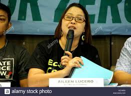 Aileen Lucero of Ecowaste Coalition presented the more than 50,000 Stock  Photo - Alamy