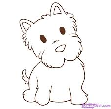 cute dogs drawings step by step. Fine Dogs How To Draw A Westie Step 5 Dog Drawing Simple Cute Drawing With Dogs Drawings Step By S