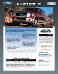 2010 Ford F150 Towing Capacity Chart 2010 Ford Expedition Towing Guide Specifications Capabilities