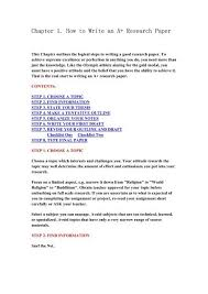 Chapter 1 How To Write An A Research Paper