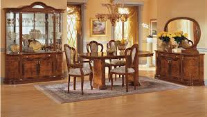 Adorable Traditional Dining Room Home Design Brown Wooden Chair - Traditional dining room set
