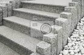 G562 maple red cheap granite tiles 600x600 china granit 60x60. Nahaufnahme Einer Modernen Aussentreppe Aus Granit Mit Stelen Leinwandbilder Bilder Naturstein Palisade Vorgarten Myloview De