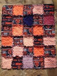 8 best Chicago bears quilt images on Pinterest | Amish quilts ... & Chicago Bears rag quilt Chicago Bears baby blanket by BlueSheepBoutique Adamdwight.com