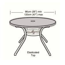 cover up 4 6 seater circular table top cover 90cm
