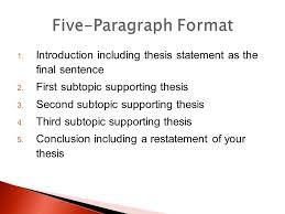 the formal five paragraph essay ppt video online five paragraph format