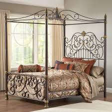 King Size Pos King Size Metal Canopy Bed Frame Beautiful Wayfair Bed ...