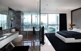 modern bathroom with bedroom design 2