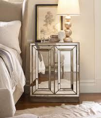 Mirrored Night Stands Bedroom Luxury Mirrored Nightstand Design Showcasing Single Drawer And