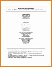 Resume Reference Page Sample Resume Reference Page Template Employment Example Job