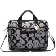 Coach In Signature Medium Grey Business bags AFP