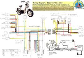 tomos wiring diagrams  myrons mopeds tomos arrow 2005