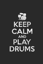 Keep Calm And Play Drums Graph Paper Notebook Music