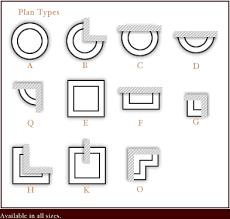 plastercast columns plan types