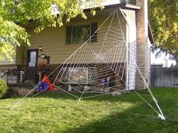 How To Make A Giant Spider Web Gigantic Halloween Spider Web 8 Steps With Pictures