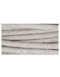 fabric lighting cable 3 core. Pale Linen Round Fabric Lighting Cable 3 Core