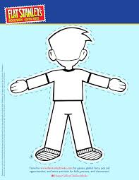 Template Flat Stanley Template Girl Cut Out Back Free Printable
