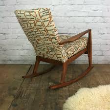 Vintage 1960s Parker Knoll rocking chair - Mustard Vintage