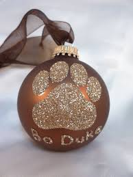 Dog Paw Print Glitter Christmas Ornament Your Choice Of