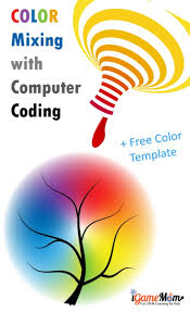 Rgb Color Mixing Chart Rgb Color Mixing With Coding Spring Template