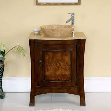 com silkroad exclusive travertine top modern sink vessel bathroom vanity with cabinet 26 inch home kitchen