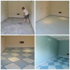 model painting concrete floors