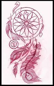 Dream Catcher Tattoo Outline