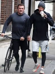 David Beckham leaves gym with personal trainer Bobby Rich | Daily Mail  Online