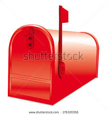 closed mailbox. Red American Closed Mailbox Icon.
