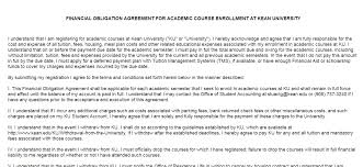 Student Agreement Contract FINANCIAL OBLIGATIONS AGREEMENT (FOA)