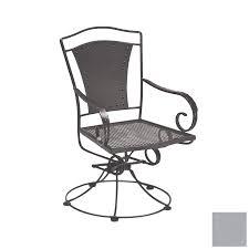 cascadia reston wrought iron swivel rocker patio dining chair