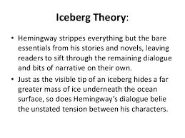 ernest hemingway iceberg theory bull