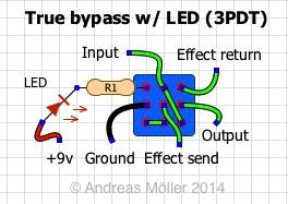 true bypass wiring schemes stinkfoot se true bypass led