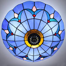 stained glass ceiling light. Image Is Loading Tiffany-Style-Stained-Glass-Ceiling-Lights-Fixture-Flush- Stained Glass Ceiling Light