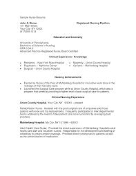 Registered Nurse Sample Resume Sidemcicek Com