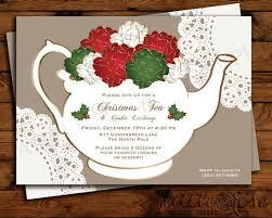 Christmas Tea Party Invitations Holiday Tea Party Invitation Christmas Tea By