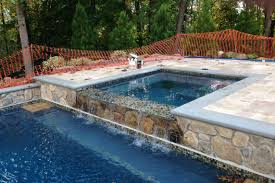interior hot tub in the inground backyard pool acts as bar counter homemade appealing diy bath