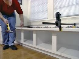 Kitchen Bay Window Seating How To Build Window Seat From Wall Cabinets How Tos Diy